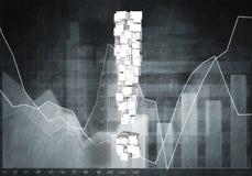 Fråga av finansiell tillväxt, tolkning 3d Fotografering för Bildbyråer