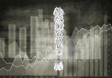 Fråga av finansiell tillväxt, tolkning 3d Royaltyfri Fotografi