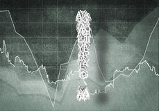 Fråga av finansiell tillväxt, tolkning 3d Royaltyfria Foton