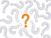 Fråga den högra frågan Arkivfoto