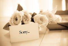 fråga förlåtelse Royaltyfri Fotografi