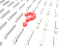 Fråga Mark Concept Graphic Arkivfoton
