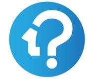 Fråga Mark Icon Design stock illustrationer