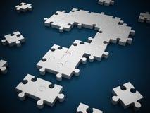 Fråga Mark Puzzle Arkivbilder