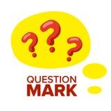 Fråga Mark Sign Icon Vector tänka för begreppsskogman Finna idén, lösning Isolerad plan tecknad filmillustration stock illustrationer