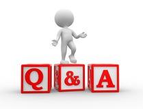 Fråga och svar Arkivbild