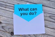 Fråga vad kan dig göra på papper royaltyfria bilder