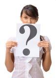 frågar affärskvinnan fotografering för bildbyråer