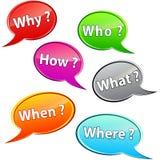 Frågebubblor Arkivbild