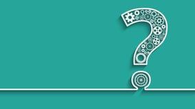 Frågefläck från kugghjul vektor illustrationer