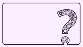 Frågefläck från kugghjul stock illustrationer