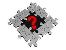Frågefläck i pussel Fotografering för Bildbyråer