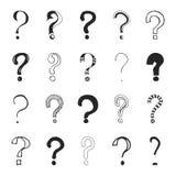 Frågefläckar - dragen hand Arkivfoton