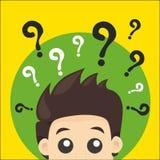 Frågeman vektor illustrationer