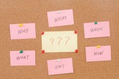Frågor Arkivbild