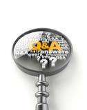 Frågor och svar Arkivbild
