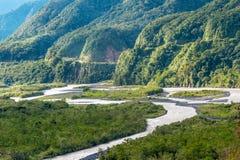 Från Anderna till amasonen Pastaza landskap Arkivfoto
