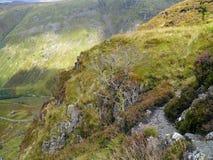 Från avsatsen på den Eagle Crag terrassen sjöområde arkivfoton