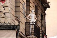 Från balkongen Fotografering för Bildbyråer