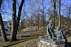 Från Brekkeparken i Skien Fotografering för Bildbyråer