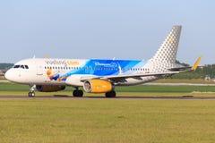 A320 från Brussel Royaltyfri Fotografi