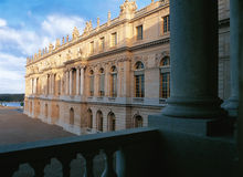 Från den midi vingen av den Versailles slotten Arkivbilder