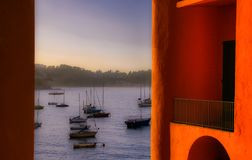 Från den orange balkongen royaltyfri bild