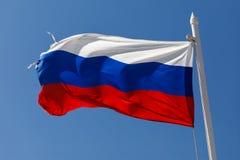 Från den ryska federationen framkallning för flagga i vinden royaltyfria foton