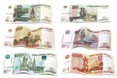 Från den ryska federationen pappers- pengar Fotografering för Bildbyråer