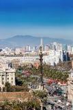 Från ett högt perspektiv - Barcelona Royaltyfria Foton