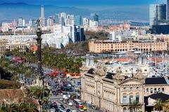Från ett högt perspektiv - Barcelona Arkivfoton