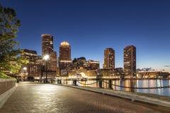 Från fanen Pier Park, Boston arkivfoton