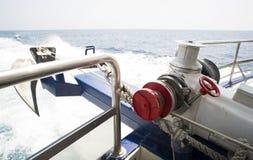 Från fartygdäck till havet Royaltyfri Fotografi