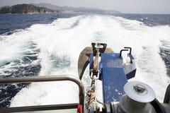 Från fartygdäck till havet Royaltyfria Foton