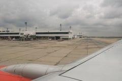Från flygplanfönstret Royaltyfri Fotografi