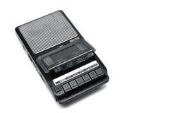 Från gångna tider skrivbords- typkassettregistreringsapparat på vit isolerad backgr royaltyfria foton