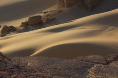 Från hightsna av den Faiyum öknen royaltyfri fotografi