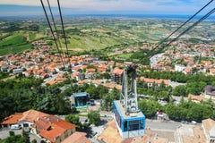 Från Italien till San Marino arkivbild