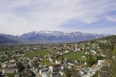 Från Liechtenstein Vaduz arkivfoton