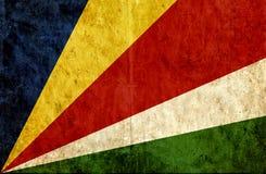 Från Seychellerna Grungy pappers- flagga royaltyfri illustrationer