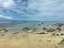 Från Seychellerna härlig strand Fotografering för Bildbyråer