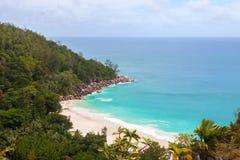 Från Seychellerna Seashore Arkivfoto