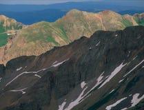 Från toppmötet av hundraårsjubileummaximumet LaPlata berg, San Juan National Forest, Colorado Fotografering för Bildbyråer