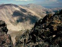 Från toppmötet av monteringen Ypsilon i mammaområdet Rocky Mountain National Park, Colorado Fotografering för Bildbyråer
