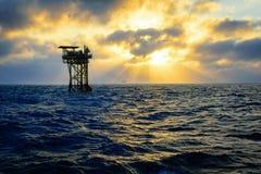 Frånlands- olje- plattform Arkivbild