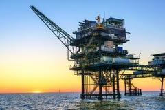 Frånlands- olje- plattform arkivbilder