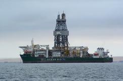 Frånlands- oljeplattform i Walvisbay Royaltyfria Foton