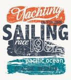 Frånlands- yacht för Stilla havet som springer regatta stock illustrationer