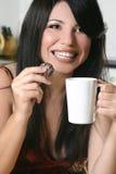 frånslagningstid för chokladkaffe Royaltyfria Foton