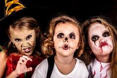 Frère et deux soeurs Halloween Image libre de droits